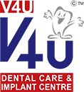 V4U Dental Care & Implant Centre Retina Logo